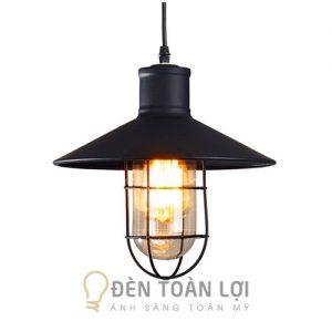 Đèn thả: Mẫu đèn thả lồng sắt nhẹ nhàng cho quán cafe