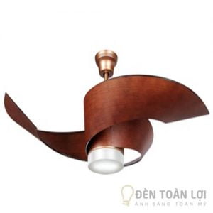 Đèn Quạt Trần Mẫu đèn màu gỗ thiết kế đơn giản cho mọi không gian