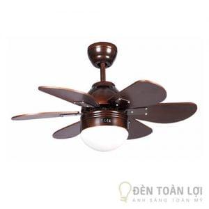Đèn Quạt Trần Mẫu đèn quạt trần 6 cánh gỗ nhập khẩu cho phòng khách