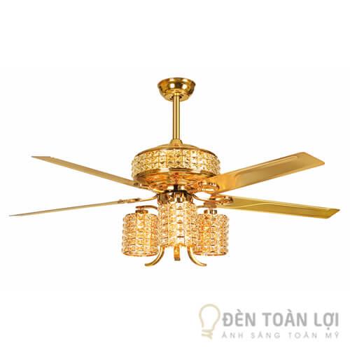 Đèn Quạt Trần Mẫu đèn trang trí mạ được vàng làm mát nhà khách