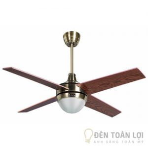 Đèn Quạt Trần Mẫu quạt trần 4 cánh gỗ cao cấp có 1 đèn
