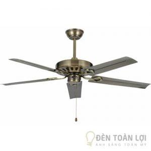 Đèn Quạt Trần Mẫu quạt trần thiết kế 5 cánh sắt đơn giản cho phòng khách