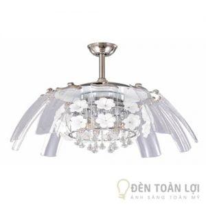 Đèn Quạt Trần Mẫu đèn chùm quạt chất liệu nhựa ABS nhập khẩu