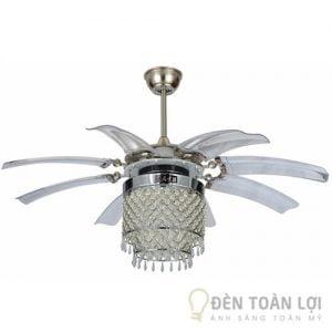 Đèn Quạt Trần Mẫu quạt đèn chùm trang trí phòng khách sang trọng