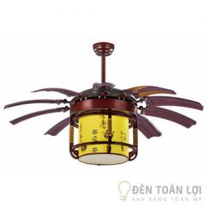 Đèn Quạt Trần Mẫu quạt lồng đèn điều hòa và làm mát có đèn led 32w