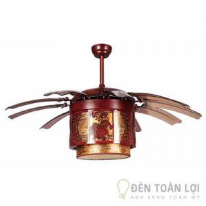 Đèn Quạt Trần Mẫu quạt lồng đèn kéo quân cao cấp có điều khiển từ xa