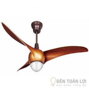 Đèn Quạt Trần Mẫu quạt trần 3 cánh từ chất liệu ABS động cơ biến tần có đèn led