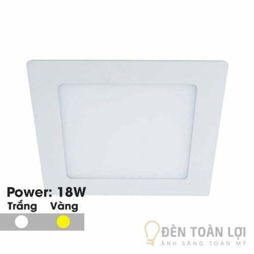 Đèn Âm Trần: Mẫu đèn led âm trần siêu mỏng 18W vuông