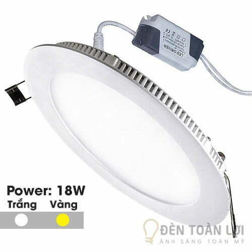 Đèn Âm Trần Mẫu đèn led âm trần siêu mỏng 18W tr?òn
