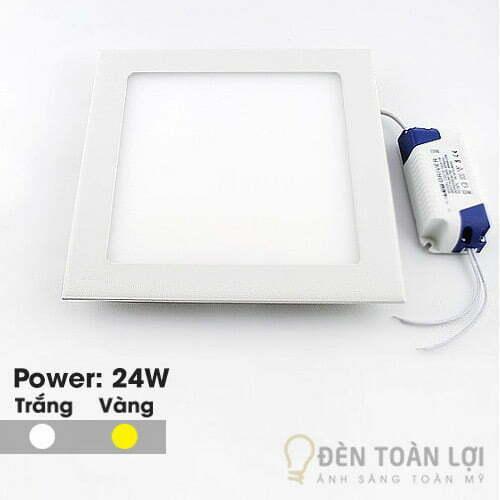Đèn Âm Trần: Mẫu đèn led âm trần siêu mỏng 24W vuông