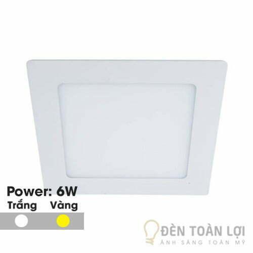 Đèn Âm Trần: Mẫu đèn led âm trần siêu mỏng 6W vuông