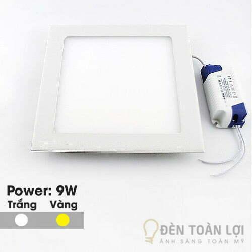 Đèn Âm Trần: Mẫu đèn led âm trần siêu mỏng 9W vuông