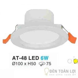 Đèn Âm Trần Mẫu đèn led đế dày 6W màu trắng