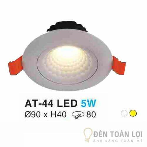 Đèn Âm Trần Mẫu đèn led hình tròn 2 màu 5W nhập khẩu