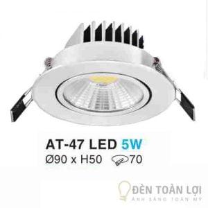 Đèn Âm Trần Mẫu đèn led màu trắng có thể điều chỉnh độ sáng