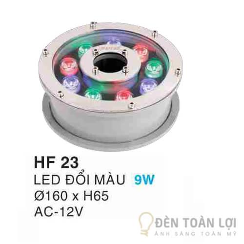 Đèn âm dưới nước non bộ led đổi màu HF23 9W-12V