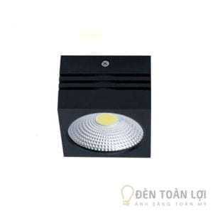 Đèn Ống Bơ Đèn led vuông thân đen trắng 7W