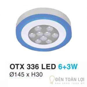 Đèn Ốp Trần Mẫu đèn led ốp nổi Hufa OTX 3 chế độ sáng