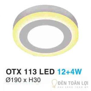 Đèn Ốp Trần Mẫu đèn led ốp trần cao OTX 113 tăng tính thẩm mỹ