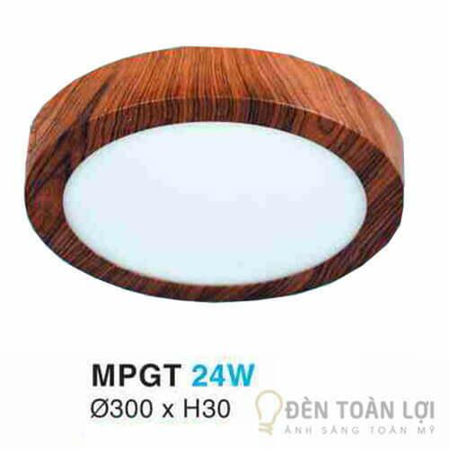 Đèn Ốp Trần Mẫu đèn led giả gỗ hình tròn cho nhà tắm nhà vệ sinh