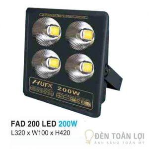 Đèn Pha FAD led Hufa 200W thân thiện với môi trường và tiết kiệm điện