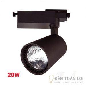 Đèn Rọi Bộ đèn rọi ray thấu kính vỏ trắng và đèn 20W