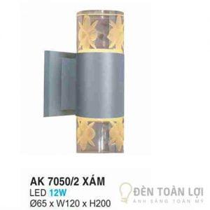 Đèn Vách Mẫu đèn ốp tường AK 70502 hình trụ tròn màu xám