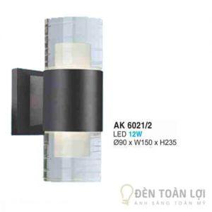 Đèn Vách Mẫu đèn ốp tường ngoài trời bóng led 12W AK 6021