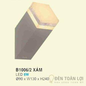 Đèn Vách Mẫu đèn ốp tường nhập khẩu B10062 xám để trang trí