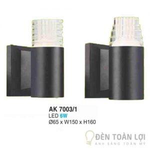 Đèn Vách Mẫu đèn ốp tường trang trí tường nhà ngoài trời AK7003