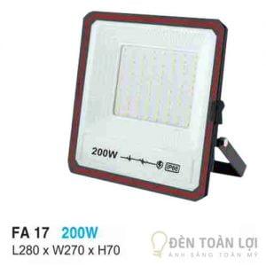Đèn pha FA 17 led 200W chất lượng không lãng phí ánh sáng