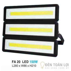 Đèn pha FA 20 led 150W ứng dụng trong công nghiệp