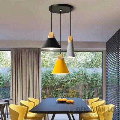 Bộ đèn thả trang trí bàn ăn nhiều màu