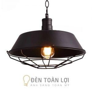 Đèn thả chao kim loại phong cách công nghiệp trang trí