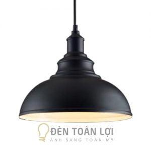 Đèn thả trang trí chao sắt đen, lòng trắng sơn tĩnh điện phong cách Châu Âu