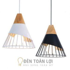 Đèn Thả: Mẫu đèn thả đui gỗ trang trí bàn ăn cực đẹp THCN 38