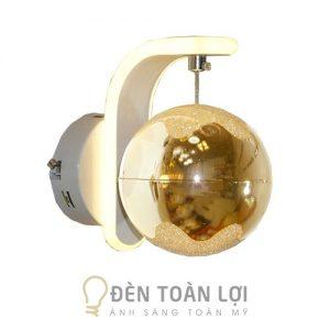 Đèn Vách: Mẫu đèn vách tường có cầu thủy tinh VT19 xi vàng, Bạc